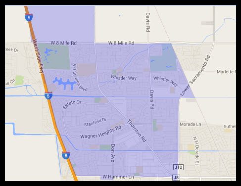 Map of Stockton 95209 Zip Code